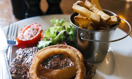 Rib-Eye Steak Meal for Two at The Spotted Dog (Up to 56% Off)