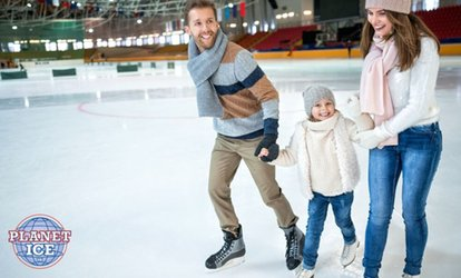 Ice Rink Entry with Skate Hire for Up to Four at Planet Ice, Multiple Locations (Up to 54% Off)