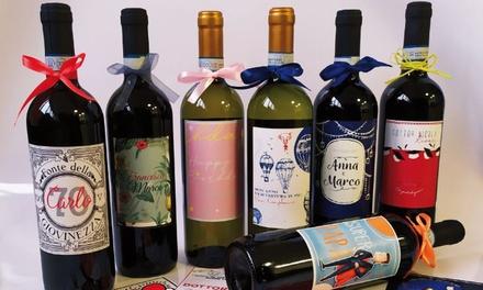 Bottiglia di vino con etichetta personalizzabile per ogni occasione a 12,99€euro