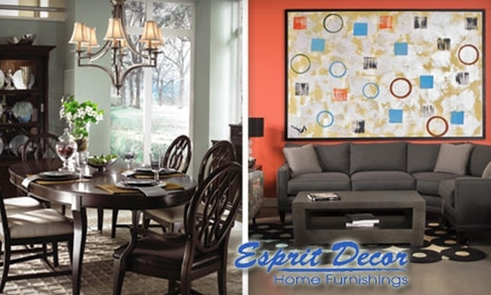 Esprit Decor Home Furnishings - Great Bridges: $59 for $200 Worth of Furniture and Home Essentials at Esprit Decor Home Furnishings