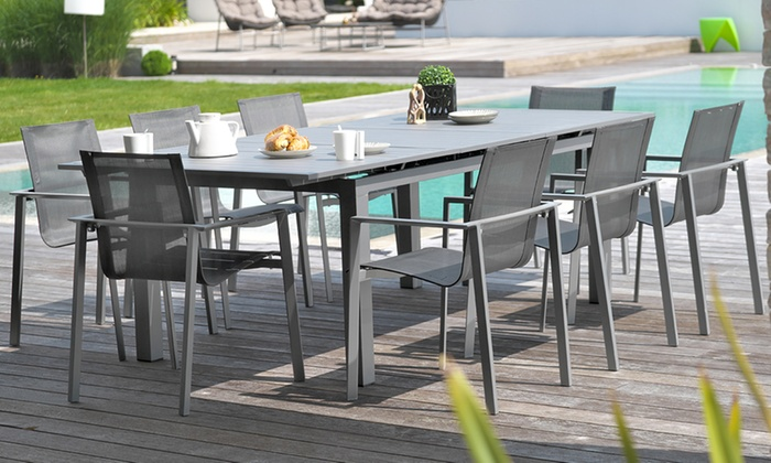 Ensemble jardin alu 8 places | Groupon Shopping