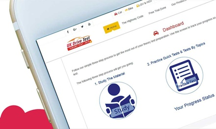 6 or 12 Months Online Theory Test for Car, Motorcycle, LGV+HGV and ADI with UK Drive Test