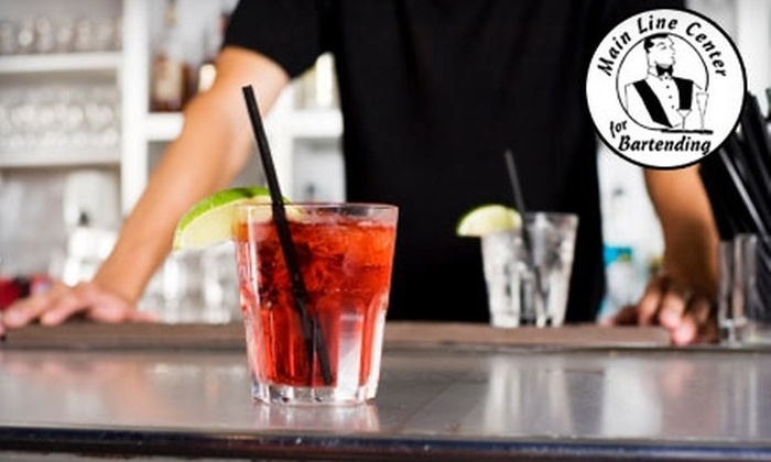 Main Line Center for Bartending - Manayunk: $175 Bartending Training Program at Main Line Center for Bartending ($490 Value)