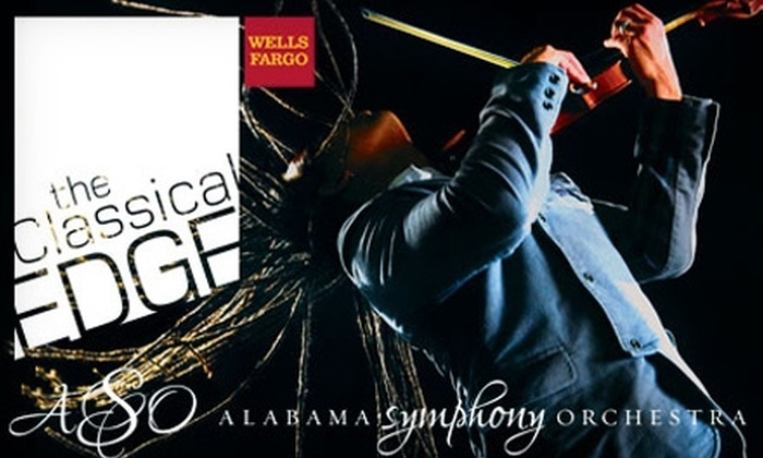 "Alabama Symphony Orchestra - Fountain Heights: $37 for Two Tickets to The Wells Fargo Classical EDGE Series ""Voodoo Violin Concerto"" ($75 value)"