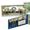 Living Presidents Official Legal Tender U.S. $2 Bill with Donald Trump