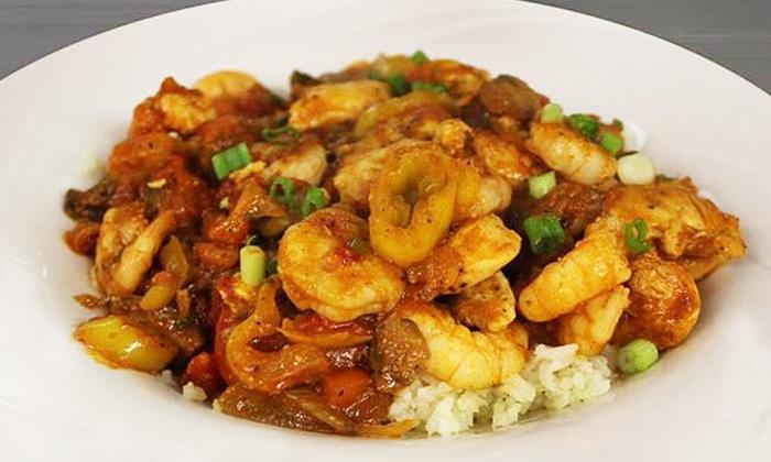 New Orleans Bar & Grill - Greensboro: Cajun Dinner for Two at New Orleans Bar & Grill (Up to 43% Off)