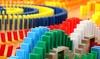 Lot de dominos colorés