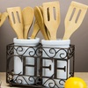 Porcelain and Metal Kitchen Utensil Caddies