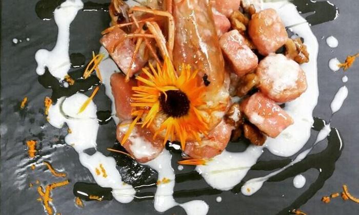 Menu pesce di 4 portate con bottiglia di vino per 2 o 4 persone al Ristorante La Barchetta di Mozzo (sconto fino a 69%)