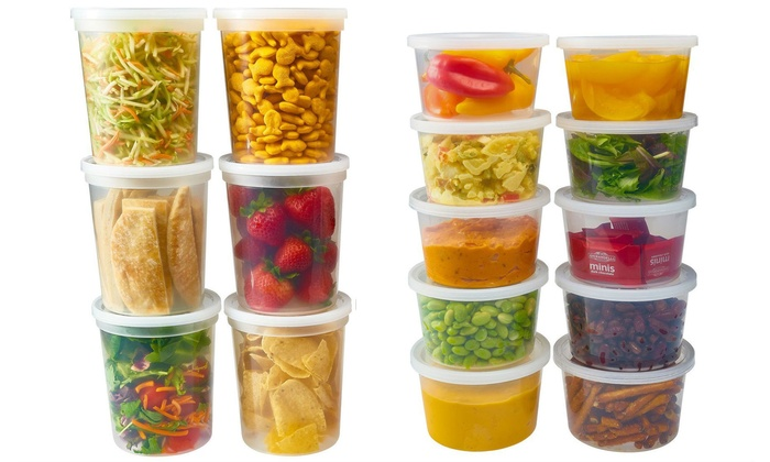 ... Microwave and Freezer Safe Food Storage Containers Set (50-Piece)  sc 1 st  Groupon & Up To 35% Off on Food Storage Containers Set | Groupon Goods