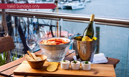 Starter, Bucket of Prawns and Wine or Beer for Two $35, Four $69 or Six People $99 at Waters Edge Scarborough
