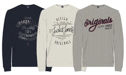 jack jones sweatshirt groupon. Black Bedroom Furniture Sets. Home Design Ideas