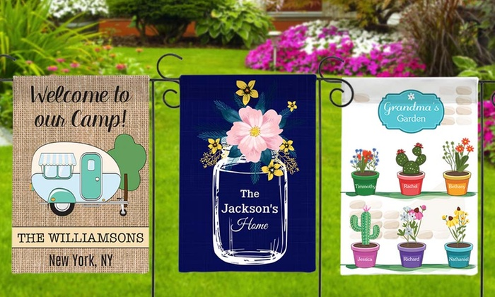 Up To 84% Off Personalized House Or Garden Flags ...