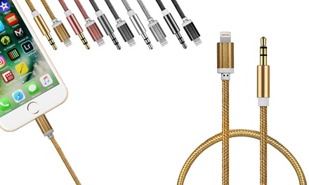 Braided Lightning to 3.5mm Audio Cable for £6.95 (65% Off)