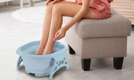 Collapsible Foot-Massaging Tub