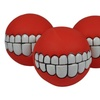 Toothy Smile Squeaker Ball Dog Toys (3-Pack)