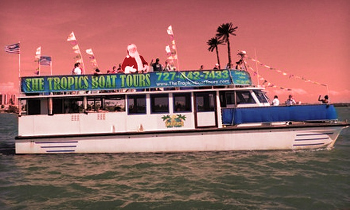 The Tropics Boat Tours - Clearwater: $12 for One Ticket on a Cruisin' with Santa Boat Tour from The Tropics Boat Tours ($25 Value)