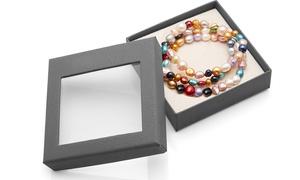Set de 3 bracelets multicolores en perles d'eau douce