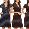 Nelly Women's Short-Sleeved Striped Dress