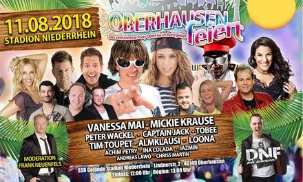 """Ticket für """"Oberhausen feiert"""" am 11. August auf dem SSB Gelände des Oberhausener Niederrhein Stadion (42% sparen)"""