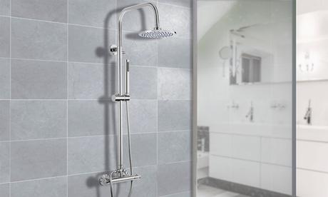 Sistema de ducha termostática con cabeza redonda o cuadrada