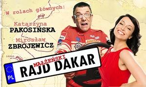 """Małżeński Rajd Dakar: Bilet na spektakl """"Małżeński Rajd Dakar"""" od 49,90 zł w Katowicach lub Krakowie"""