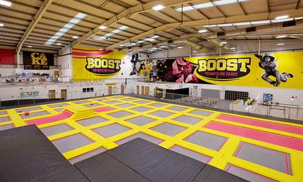 One Hour Trampoline Access Boost Trampoline Parks Groupon
