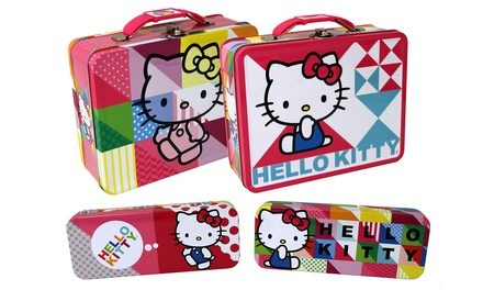 Hello Kitty Lunch and Storage Tin (2-Pack)
