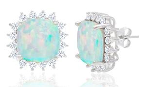 4.00 CTW Genuine Opal Princess Cut Halo Stud Earrings at 4.00 CTW Genuine Opal Princess Cut Halo Stud Earrings, plus 9.0% Cash Back from Ebates.