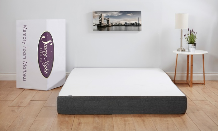 Starry Night Single, Double or King Memory Foam Mattress (£160)