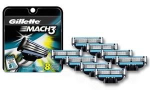Gillette Mach3 Razor Refill Cartridges (8 or 16-Pack)