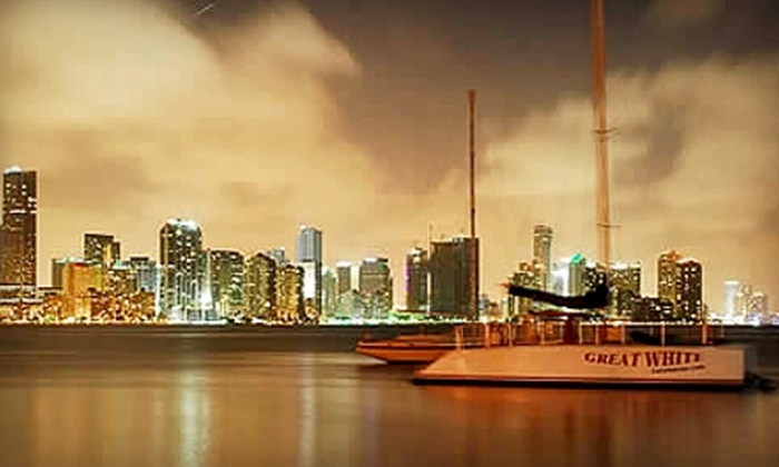 Playtime Watersports - Brickell: $35 for 2.5-Hour Biscayne Bay Sunset Cruise, Drinks, and Snacks from Playtime Watersports ($75 Value)