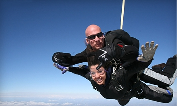 Westside Skydivers - Winsted: $899 for a 24,000-Foot Extreme High-Altitude Tandem Jump ($1,799 Value) or $117 for a Regular Tandem Jump (Up to $210 Value) at Westside Skydivers in Winsted