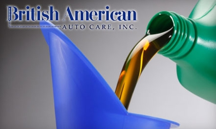 British American Auto Care - 6, Savage: $13 for an Oil-Change Service at British American Auto Care