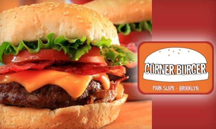 Corner Burger - Park Slope: $8 for $16 Worth of Burgers, Shakes, and More at Corner Burger