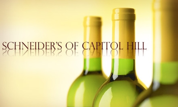 Schneider's of Capitol Hill - Capitol Hill: $45 for a Six-Bottle Assortment of Wine at Schneider's of Capitol Hill ($91.94 Value)