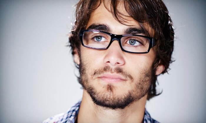 A Visual Affair - Multiple Locations: $55 for Eye Exam and $250 Toward Prescription Eyeglasses at A Visual Affair ($345 Value)