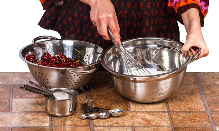Stainless Steel German Bowl And Kitchen Gadgets Set 11