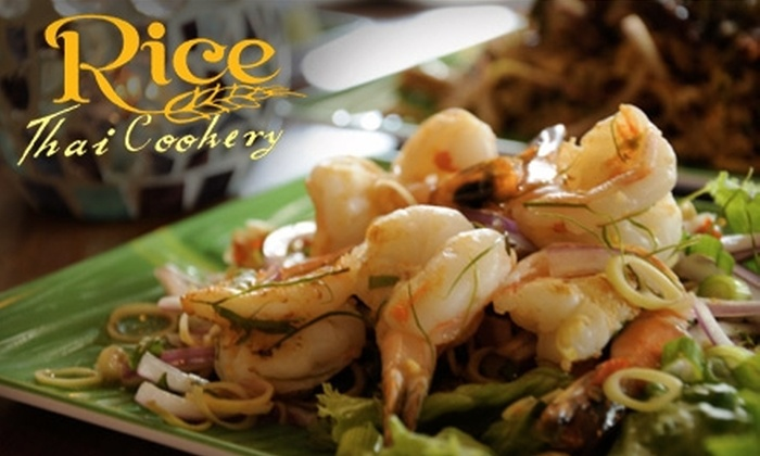 Rice Thai Cookery - Multiple Locations: $7 for $15 Worth of Authentic Thai Cuisine at Rice Thai Cookery in Milwaukie or West Linn