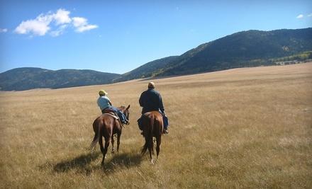 Romeros Thunder Inc.: 1 Romantic-Getaway Horseback Trail Ride for 2 - Romeros Thunder Inc. in Bernallio