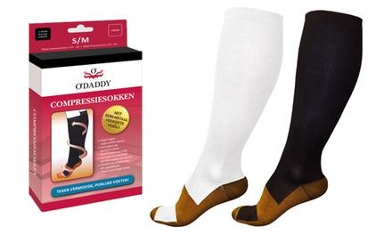1 ou 2 paires de chaussettes de compressions avec fibres infusées de cuivre