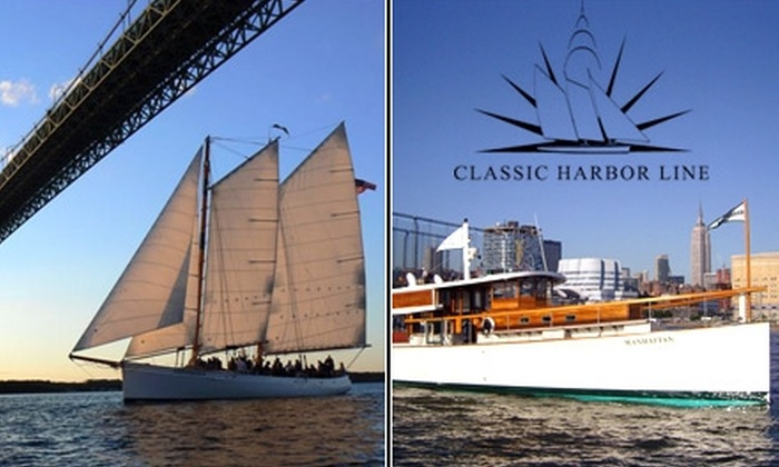 Classic Harbor Line - Chelsea: $26 Ticket to Yacht or Sailing Cruise from Classic Harbor Line ($40 Value)