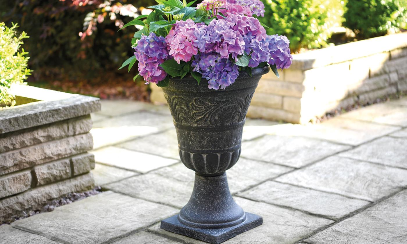 One or Two Victorian-Style Pillar Planters