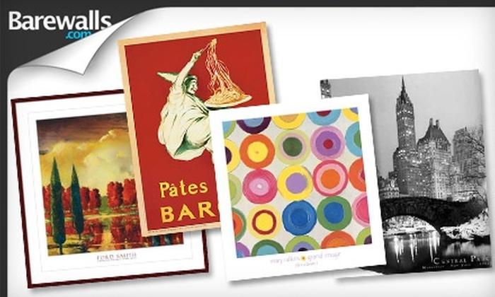 Barewalls.com: $20 for $40 Worth of Posters, Prints, Framed Decorative Art, and More from Barewalls.com