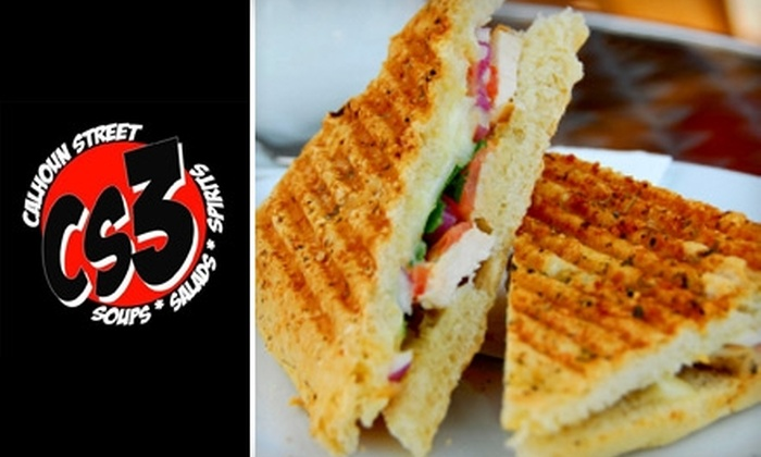 Calhoun Street Soups, Salads & Spirits - Hoagland Masterson: $7 for $15 Worth of Fresh Fare and Drinks at Calhoun Street Soups, Salads & Spirits