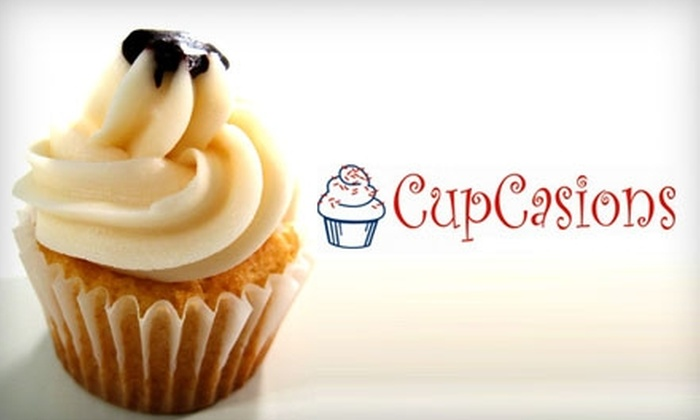 Cupcasions - Central City: $6 for $12 Worth of Cupcakes or $150 for a Three-Tier Wedding Cake ($300 Value) at Cupcasions