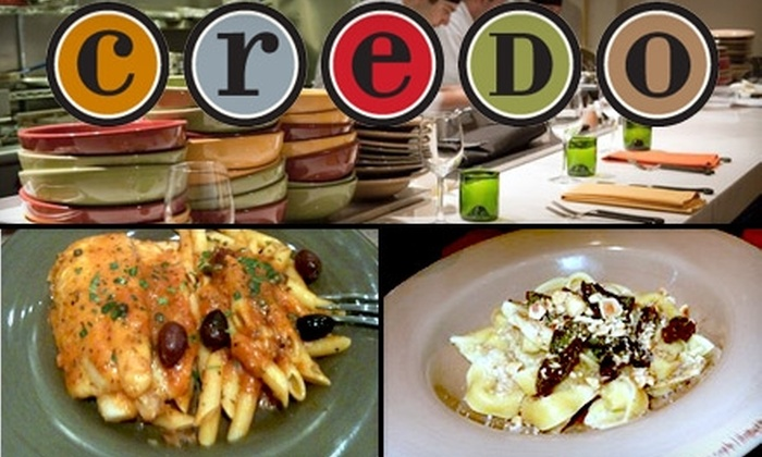 Credo - San Francisco: $25 for $50 Worth of Italian Cuisine and Drinks at Credo