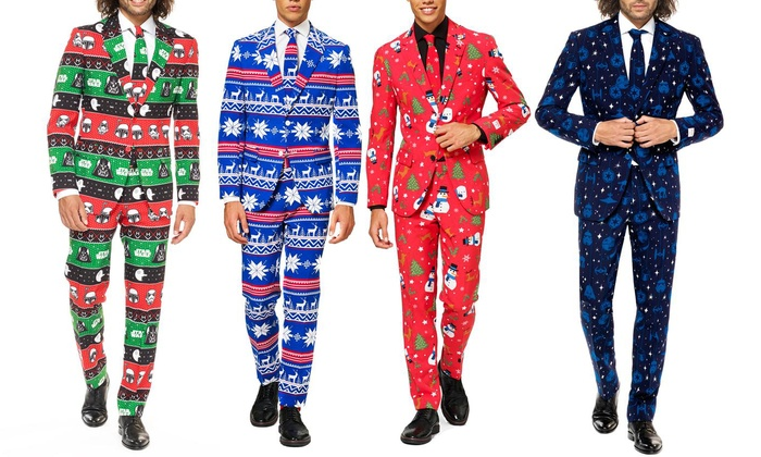 43fdcfc64a4736 OppoSuits Men's Slim Fit Ugly Christmas & Star Wars Suits | Groupon