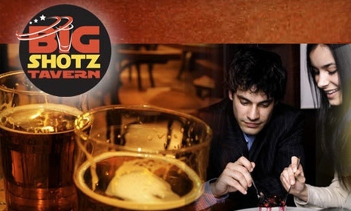 Big Shotz Tavern - Multiple Locations: $15 for $30 of American Cuisine at Big Shotz Tavern