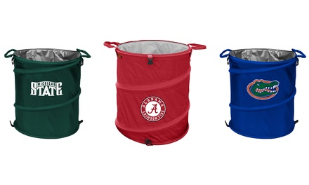 Ncaa 3 in 1 collapsible cooler clothes or trash storage basket groupon - Collapsible waste basket ...